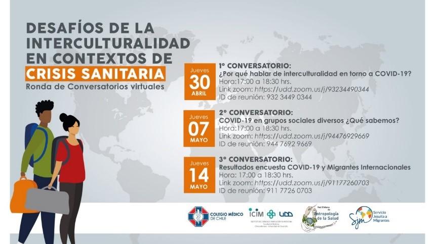 Participación de charlas sobre desafíos de la interculturalidad en contextos de crisis sanitaria
