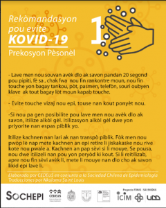 Colaboración con SOCHEPI en traducción de infografías informativas sobre COVID-19 al Creol