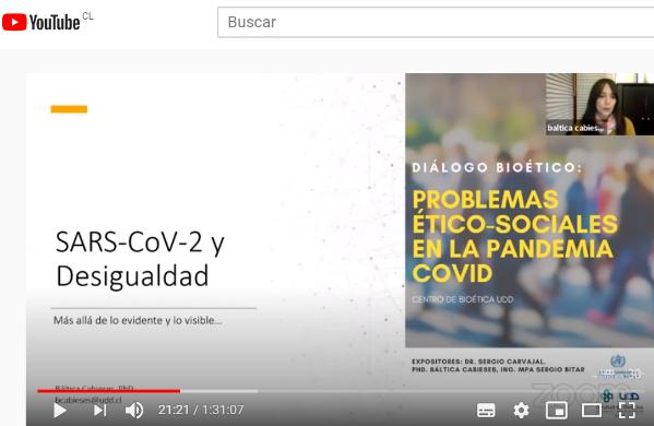 """Participación investigadora PROESSA en Diálogo Bioético """"Problemas ético-sociales en la pandemia COVID-19"""""""