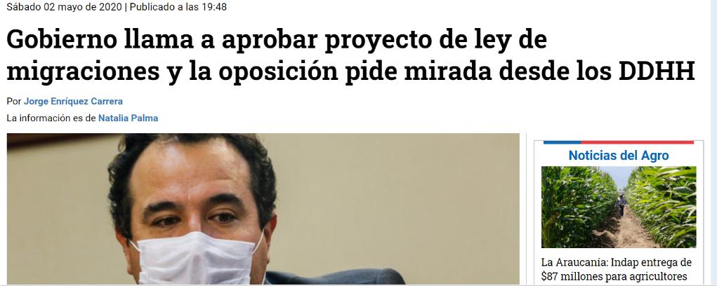 Participación de investigadora PROESSA en nota de prensa radio Bío-Bío