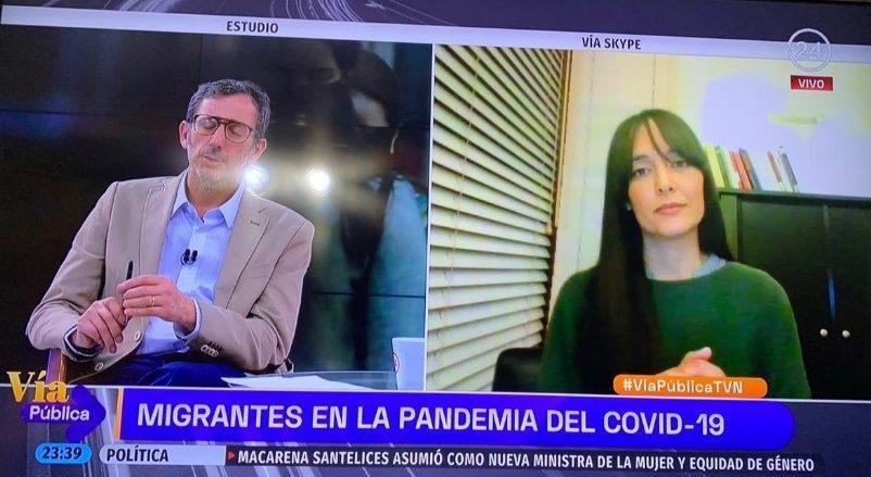 Investigadora PROESSA entrevistada en TVN sobre situación de migrantes y COVID-19