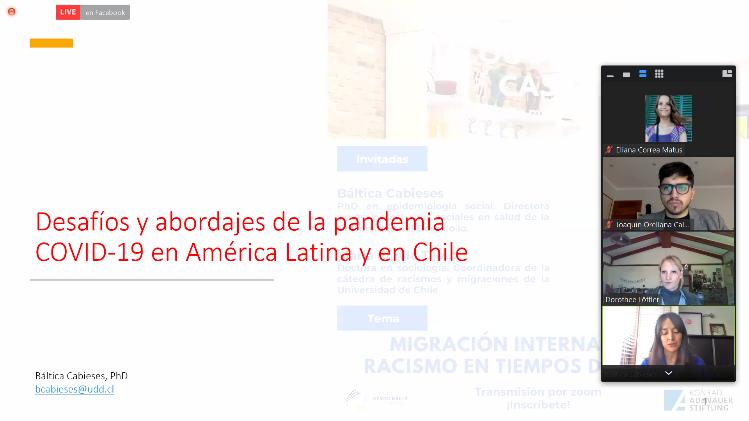 Participación de investigadora en Charla sobre migración internacional y racismo en tiempos de pandemia