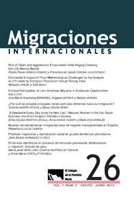 """Participación de investigadora PROESSA en arbitraje de artículos en Revista """"Migraciones Internacionales"""""""