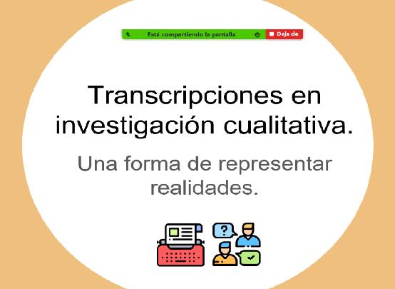 Capacitación transcripciones y análisis de información cualitativa estudiantes ACE