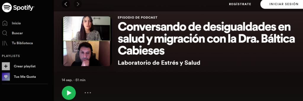 """Participación de directora PROESSA en Podcast """"Laboratorio de estrés y salud"""""""