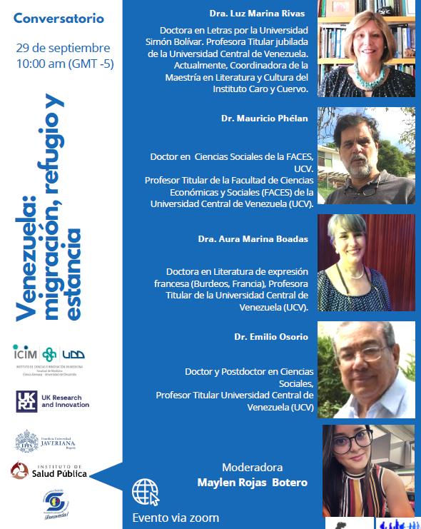 Participación investigadora PROESSA en Charla de Migración en Latinoamérica