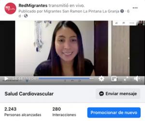 Inicio ciclo de charlas sobre salud para migrantes internacionales