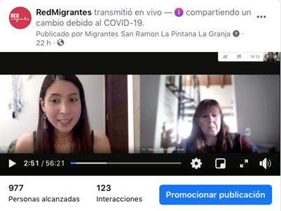 Participación investigadoras PROESSA en ciclo de charlas en salud para población migrante