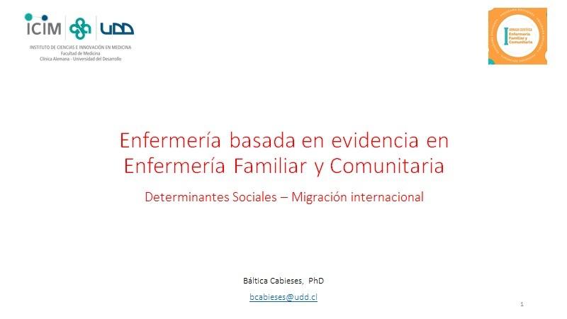 Participación investigadora PROESSA en I Jornada Científica de Enfermería Familiar y Comunitaria.