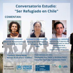 Participación de investigadora PROESSA en Conversatorio organizado por FASIC sobre salud de refugiados y solicitantes de asilo