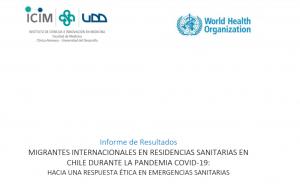 Publicación Informe sobre atención de salud de migrantes internacionales en residencias sanitarias en contexto de pandemia por SARS-CoV-2