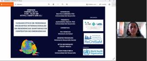 Realización Webinar resultados investigación de estudio de cuidado ético de personas migrantes internacionales en residencias sanitarias