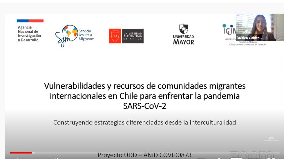 Webinar organizado por PROESSA presenta resultados de estudio sobre vulnerabilidades y recursos de comunidades migrantes en Chile para enfrentar la pandemia por SARS-CoV-2