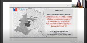 Participación de investigadoras PROESSA en Seminario difusión resultados estudio sobre condiciones de vida y acceso a salud de migrantes internacionales