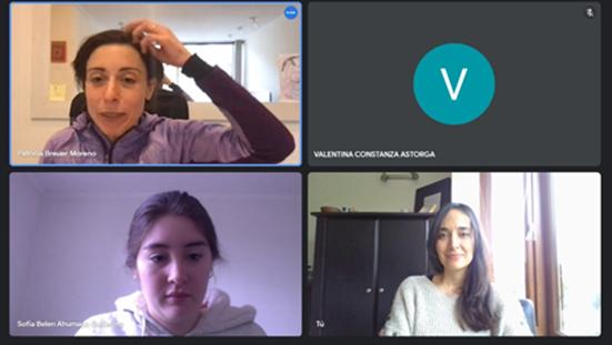 Participación y apoyo directora PROESSA a proyecto colaborativo entre estudiantes de Enfermería UDD y Universidad de Chile para apoyo de migrantes internacionales