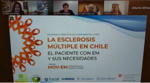 Participación de investigadora PROESSA en webinar sobre necesidades de pacientes con esclerosis múltiple.