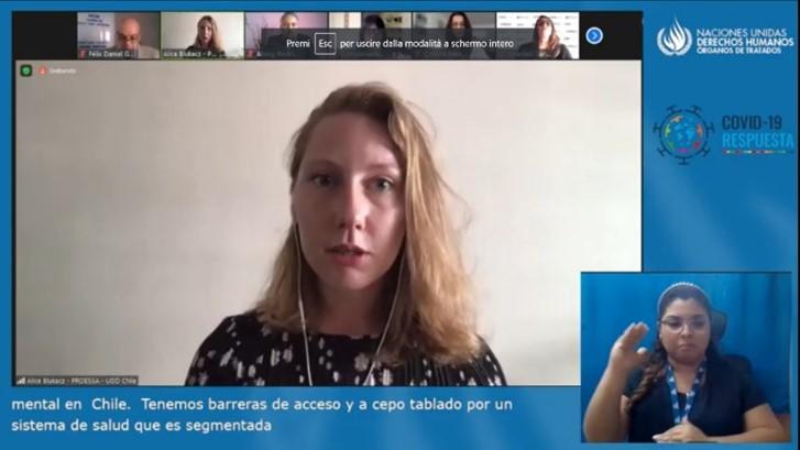 Participación de investigadora PROESSA UDD EN webinar sobre derecho a la salud mental en pandemia por COVID-19