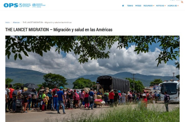 Reconocimiento de OPS a Lancet Migration Latinoamérica donde directora PROESSA es co-líder