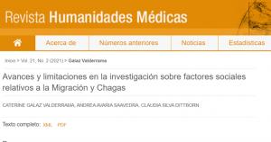 Publicaciones científicas equipo de PROESSA durante el mes de agosto.